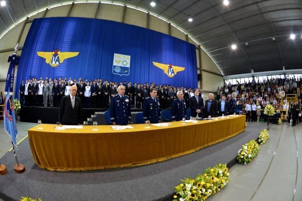 A solenidade de formatura foi realizada em São José dos Campos (SP)