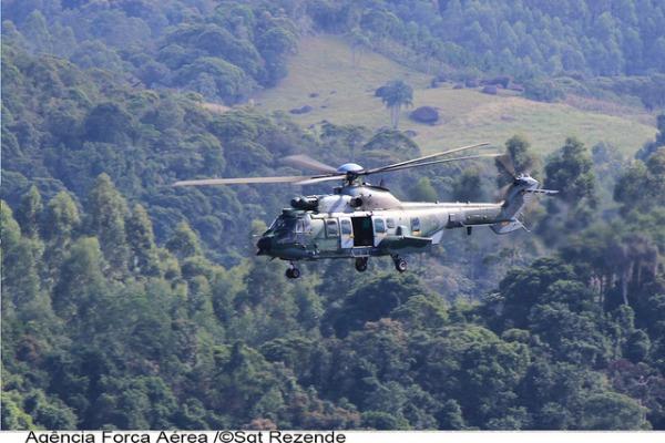 Helicóptero H-36 do Esquadrão Falcão  Sgt Paulo Rezende / Agência Força Aérea
