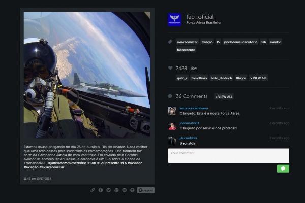 O público do facebook, twitter e instagram da Força Aérea pode interagir cada vez mais com a Instituição