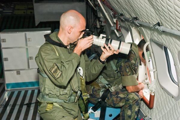 Sargento Johnson durante missão da FAB  Sgt Marcos Poleto / Agência Força Aérea