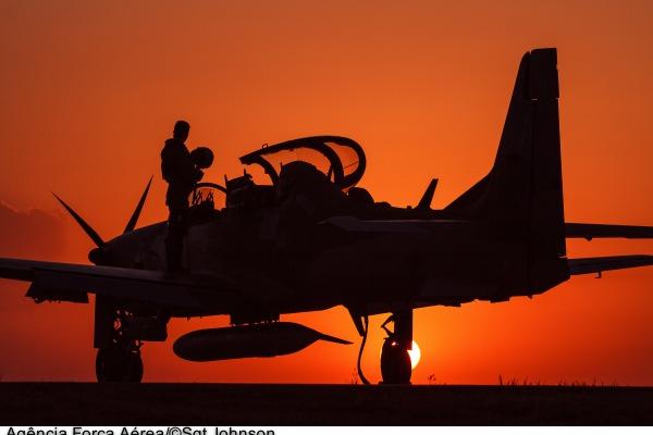 A seleção foi feita a partir da rede social Flickr. Foto mostra avião A-29 Super Tucano durante Operação Ágata