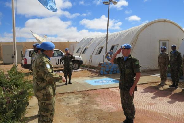 O militar lidera um grupo de 15 observadores de 12 diferentes países
