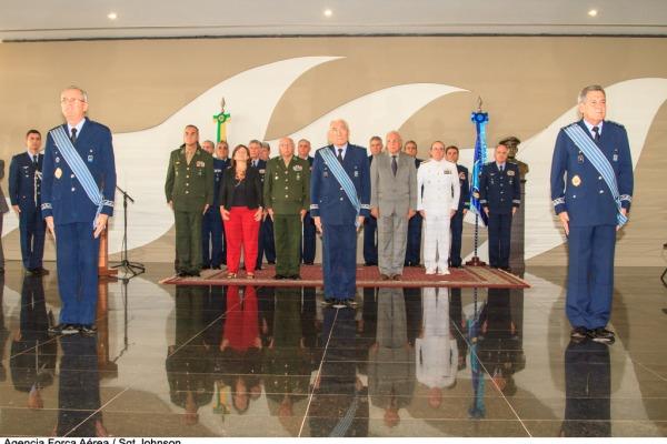 A cerimônia foi presidida pelo Comandante da Aeronáutica, Tenente-Brigadeiro do Ar Juniti Saito