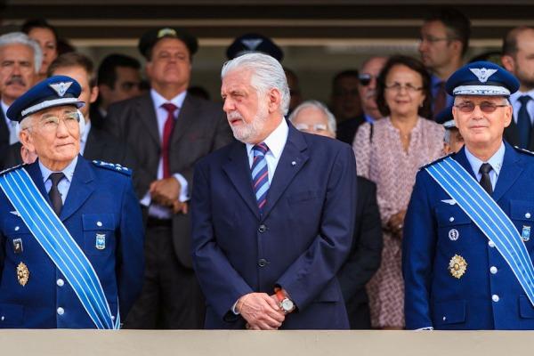 A cerimônia realizada em Brasília também foi marcada pela despedida do Tenente-Brigadeiro Saito