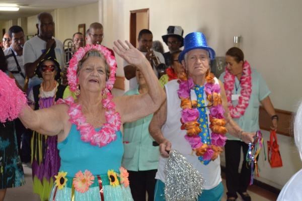 A festa contou com a participação da bateria da União da Ilha do Governador