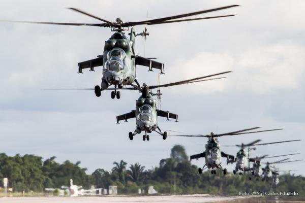 Voo ocorreu em Rondônia e marca a operacionalidade dos helicópteros de ataque