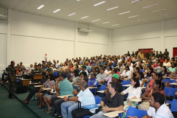 A atividade marcou o início do treinamento no Recife