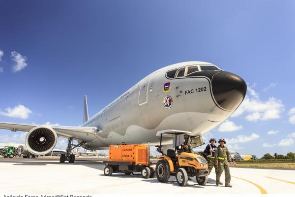 Boeing 767 durante o exercício CRUZEX  Sgt Paulo Rezende / Agêcia Força Aérea
