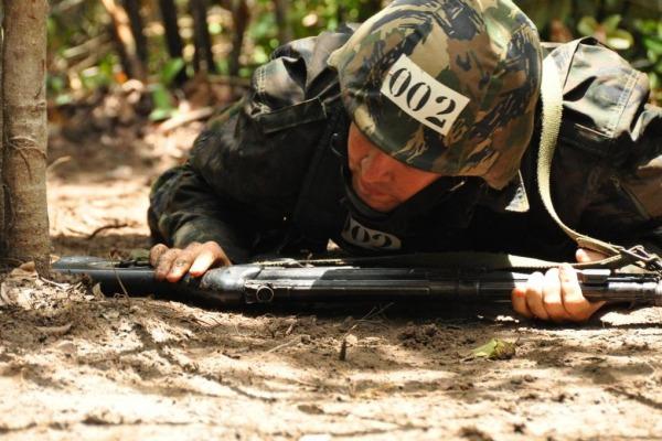 Atividades foram realizadas com rifle  3º Sgt Floriano/ CLA