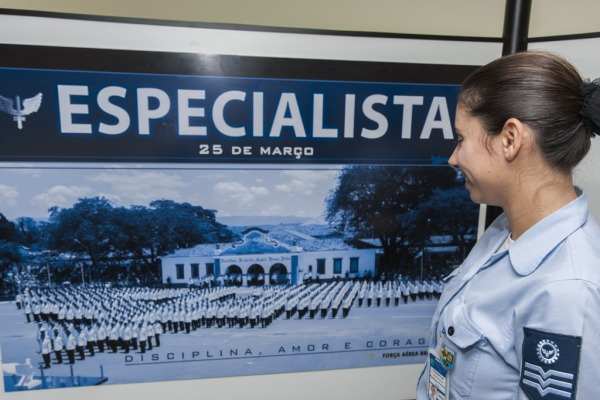 Dezesseis painéis ilustram as diversas especialidades dos sargentos