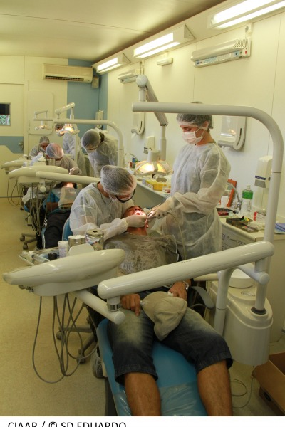 Atendimento odontológico também está contemplado  SD Eduardo/ CIAAR