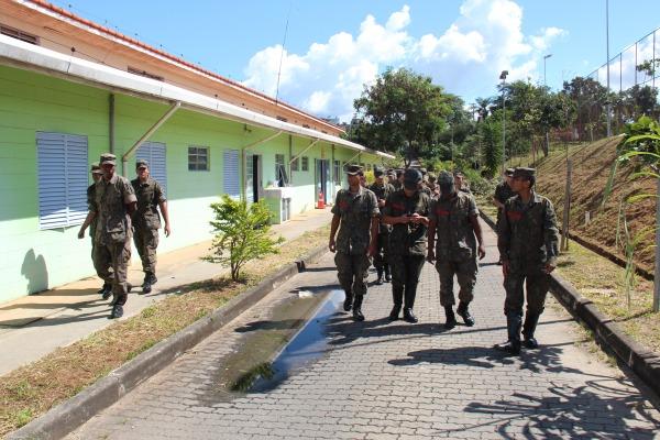 Militares da BASP em instrução teórica  BASP