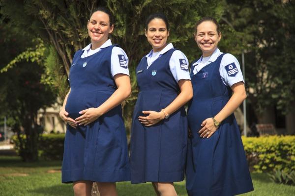 Mães militares que participaram do café da manhã  Sgt Batista