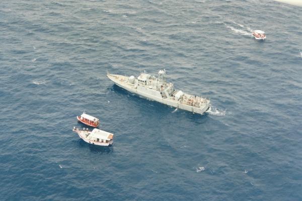 Navio da Marinha realiza o resgate  1°/7° GAV