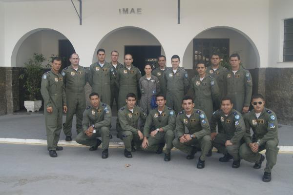 Eles participaram de instruções nos vários laboratórios do Instituto de Medicina Aeroespacial