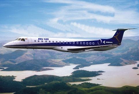 Jato civil Embraer 145 para 50 passageiros  Embraer