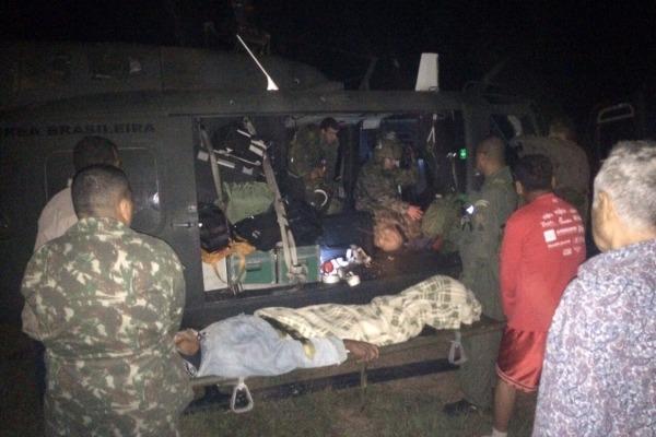 Paciente foi transportado para a Santa Casa de Corumbá onde foi operado