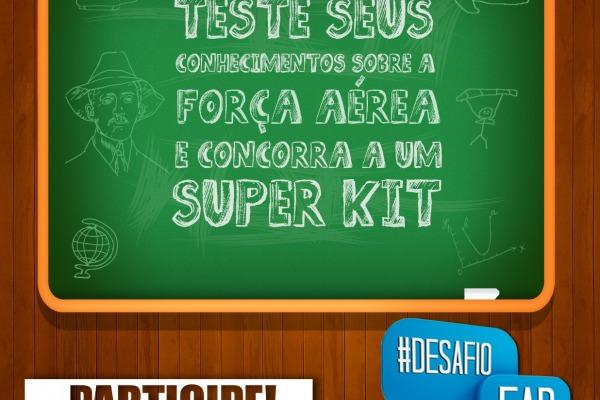 Vencedor do #DesafioFAB receberá um super Kit oficial da Força Aérea