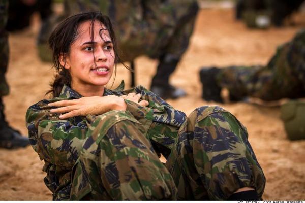 Sargento Ágatha foi a única mulher no curso  Arquivo CECOMSAER/Sargento Batista