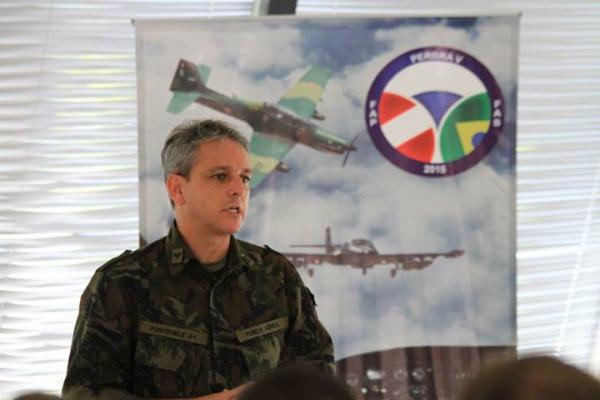 Cel Fontenelle durante abertura da PERBRA  enente Humberto/Agência Força Aérea
