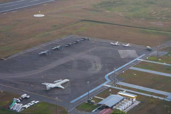 Aeroporto civil recebe aeronaves militares da Força Aérea Brasileira