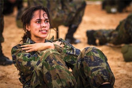 Sargento Ágatha foi a única mulher na turma do curso em Campo Grande
