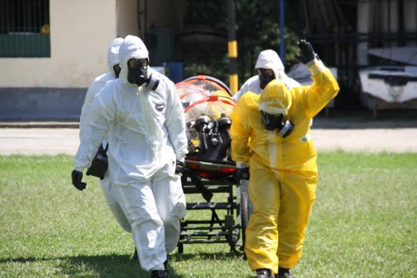 Roupas de proteção nível A são empregadas quando não se conhece o agente contaminante ou biológica
