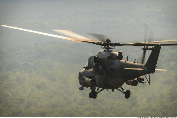 A manobra serviu para avaliação dos armamentos e adestramento das tripulações do AH-2 Sabre