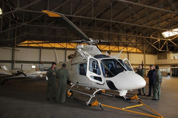 O objetivo foi passar recomendações de segurança para o novo helicóptero da Brigada Militar