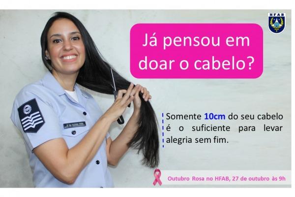 O objetivo é doar o cabelo arrecadado para confecção de perucas às mulheres vítimas do câncer de mama