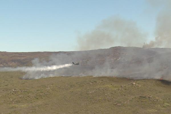 C-130 Hércules realizou quatro voos no primeiro dia de atuação no combate às chamas