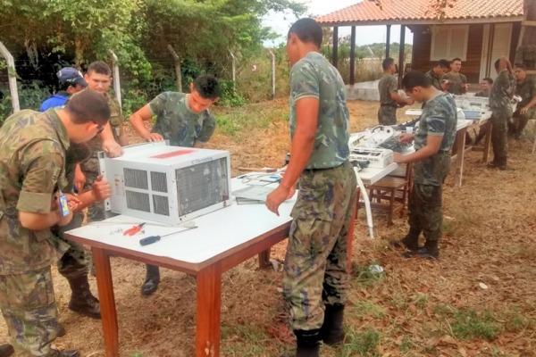 Unidade responsável pelo lançamento e rastreio de veículos espaciais participa de projeto para qualificar jovens durante carreira militar