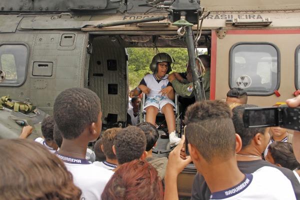 Alunos entraram nas aeronaves  Sgt Rocha / III COMAR