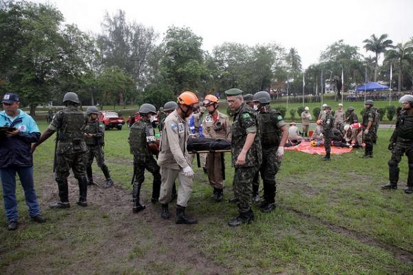 Simulação de incidentes graves com dezenas de vítimas fez parte do treinamento