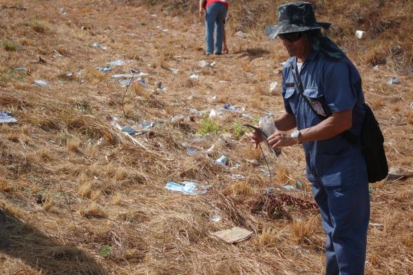 11 metros cúbicos de lixo foram recolhidos em 4 quilômetros  SCS/CLBI
