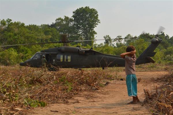 Participaram da ação dois esquadrões de helicópteros que atuam na Amazônia