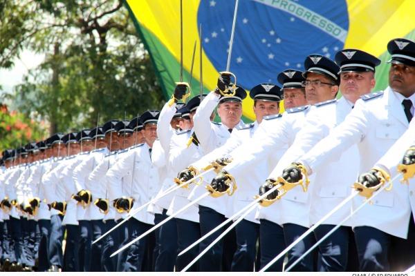 Continência à Bandeira Nacional  Soldado Eduardo/CIAAR