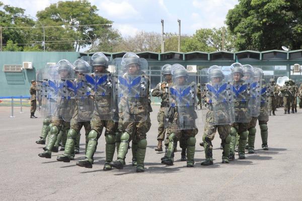 As atividades do Batalhão foram representadas durante o desfile da tropa