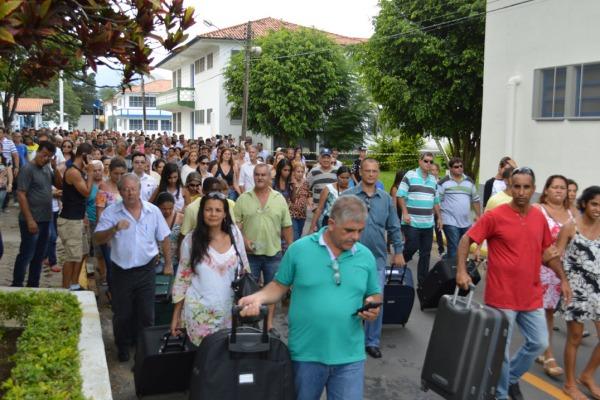 Chegada dos novos alunos  CB T. Ribeiro