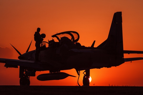 Os quatro A-29 serão utilizados no programa de Apoio Aéreo Leve (LAS)
