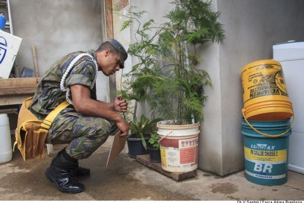 Em Belém, militares realizaram mutirão para prevenção de focos dentro das unidades