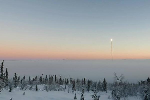 Em dez anos, foram realizados 27 lançamentos de foguetes na Suécia e Noruega