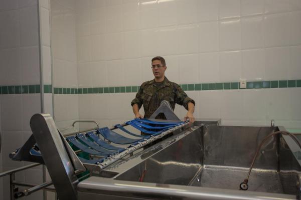 Quartos isolados com chumbo receberão vítimas de ameaças químicas, biológicas, radiológicas e nucleares
