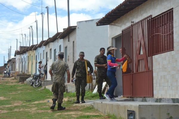 Com cerca de 7 mil imóveis, São Paulo do Potengi, no agreste potiguar, recebeu a visita de militares da FAB