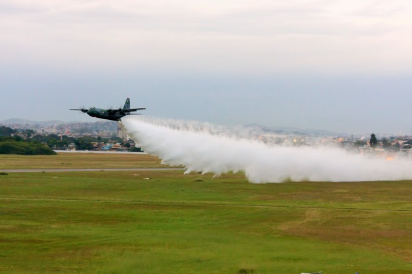 Durante cinco dias, foram dez voos e mais de 16 horas de treinamento em Campo Grande (MS)