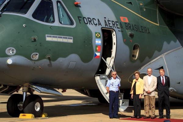 KC-390 esteve na capital federal cumprindo uma das etapas de ensaio em voo e certificação