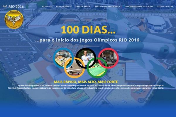A cem dias do início da competição, site reúne informações a respeito das atividade da Aeronáutica no evento