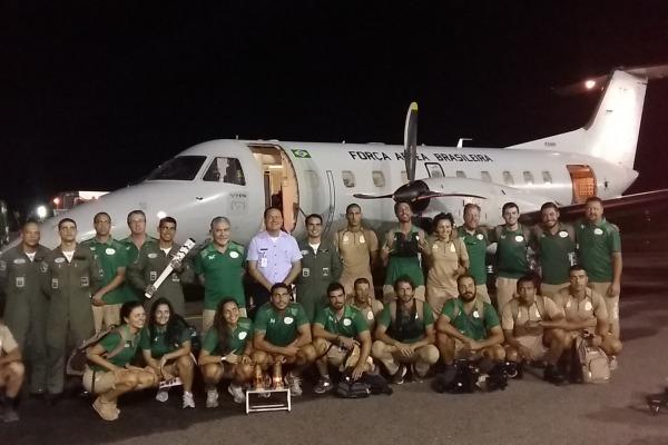 Recepção da BASV, tripulação e COE  S1 Menezes