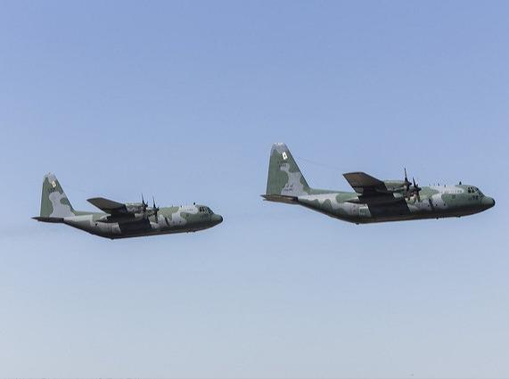 Combate simulado reúne as aviações de Transporte, Caça, Reconhecimento e Busca e Salvamento
