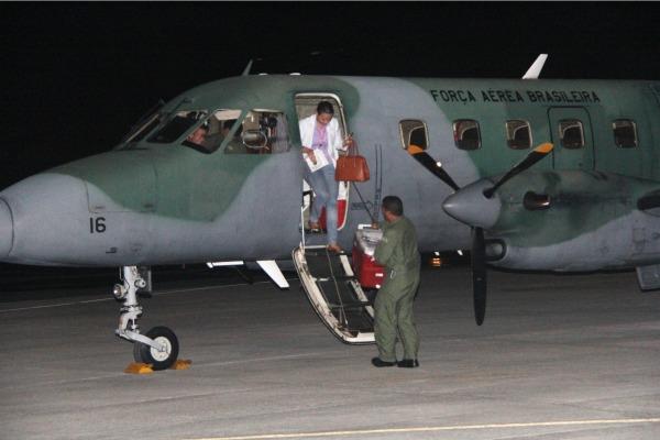 A aeronave saiu de Recife (PE) foi a Salvador (BA) pegar o órgão e depois voltou para Recife